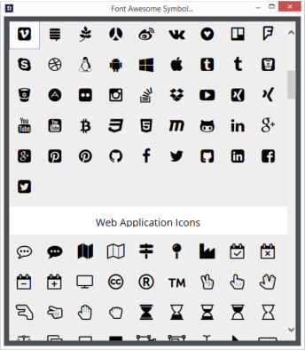 Xara Outsider October 2015 Font Awesome Symbols And Icons